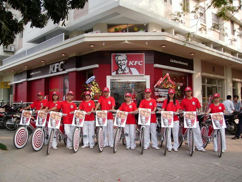 Roadshow xe dap KFC